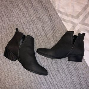 Dark gray booties